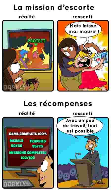 Les jeux-vidéo : expectation vs reality