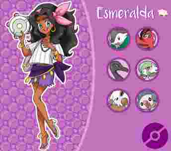 disney, princesse, pokemon, dresseuse, esmeralda