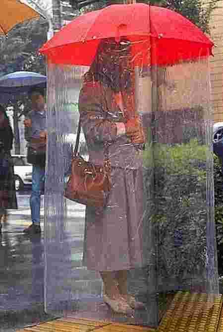 Inventions bizarres Parapluie de corps