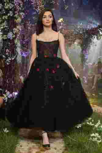 robe paolo sebastian once upon a dream noire pommes