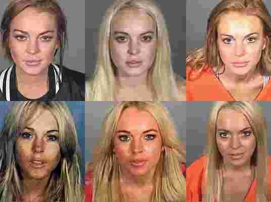 Tous les mugshot de Lindsay Lohan
