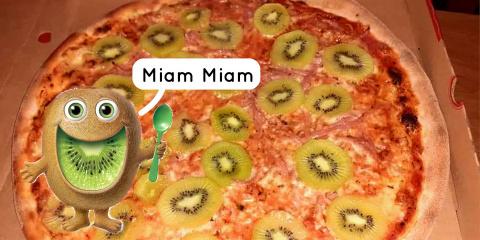 La kiwizza ou pizza au kiwi est la nouvelle a...