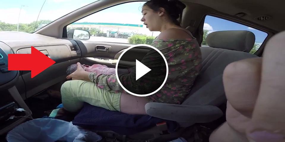 vid o il filme l 39 accouchement de sa femme au volant de sa voiture. Black Bedroom Furniture Sets. Home Design Ideas